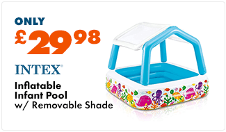 Intex Infant Inflatable Pool With Removable Shade - 1.57 x 1.57 mtr