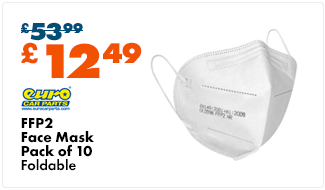 FFP2 Face Mask (Pack of 10) - Foldable