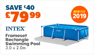 Intex Frameset Swimming Pool (Rectangle) - 3.0 x 2.0 mtr