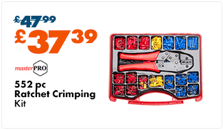 MasterPro Ratchet Crimping Tool Kit 552 pieces