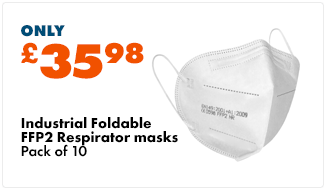 Industrial FFP2 Respirator masks (Pack of 10) – Foldable