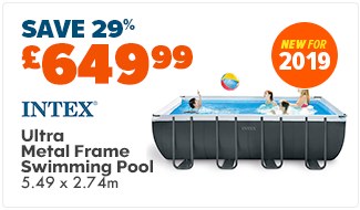 Intex Ultra Metal Frame Swimming Pool (Rectangle) - 5.49 x 2.74 mtr