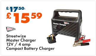 Streetwize Battery Charger - 4 Amp
