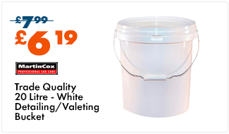 Trade Quality 20 Litre White Detailing/Valeting Bucket