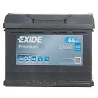 Exide Premium 027 Car Battery (64Ah) - 5 Year Guarantee (EA640)Exide Premium 027 Car Battery (64Ah) - 5 Year Guarantee (EA640)
