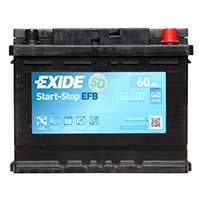 Exide EFB 027 Car Battery (EL600) - 3 year GuaranteeExide EFB 027 Car Battery (EL600) - 3 year Guarantee