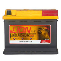 Lion AGM 027 Car Battery - 3 year GuaranteeLion AGM 027 Car Battery - 3 year Guarantee