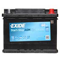 Exide AGM 027 Car Battery (60Ah) - 3 Year GuaranteeExide AGM 027 Car Battery (60Ah) - 3 Year Guarantee