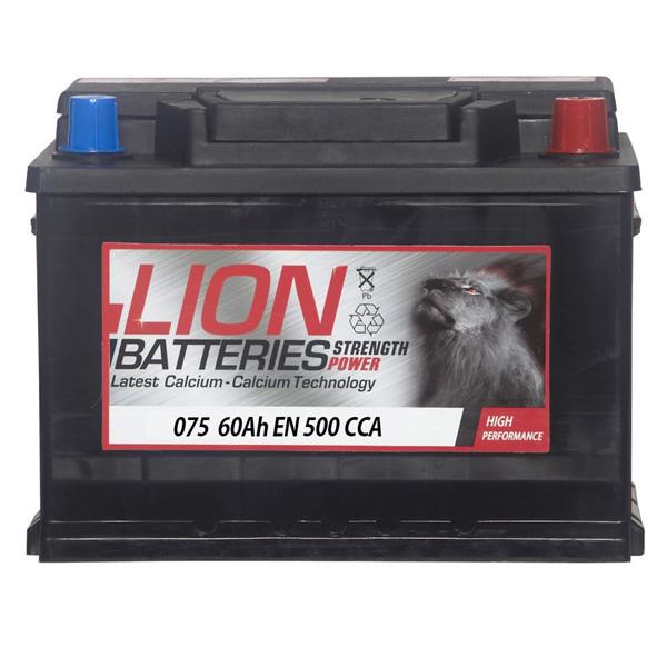 lion 075 battery 3 year guarantee. Black Bedroom Furniture Sets. Home Design Ideas