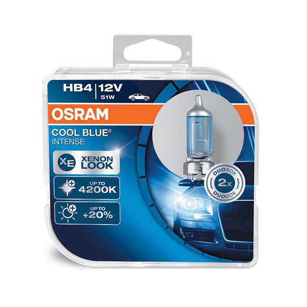 Osram Cool Blue Intense HB4 Upgrade Bulb - Twin Pack