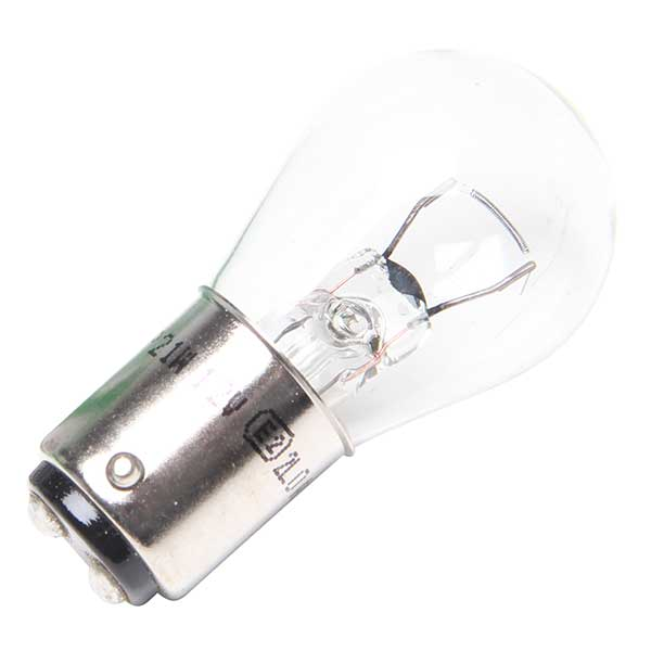Lucas 12V 21W Clear Bulb In Black Base Single Boxed
