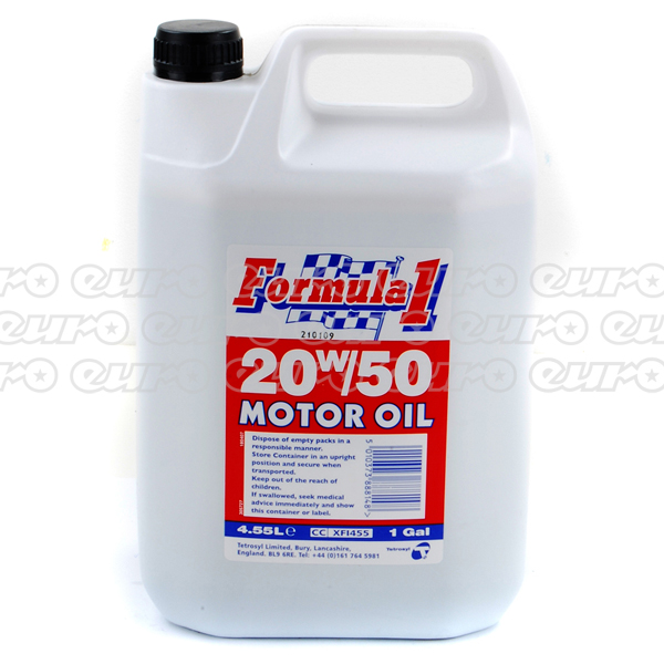 Carlube Formula One 20w50 Engine Oil 4 55 Litre