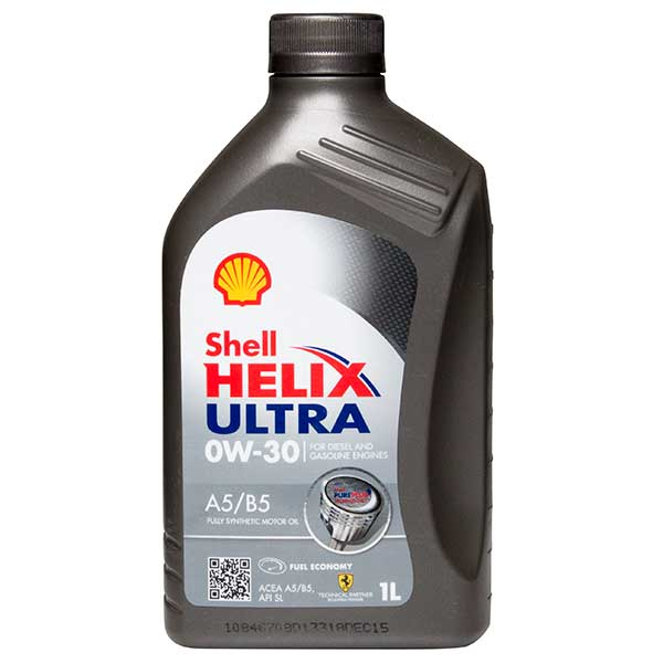 Shell Helix Ultra (A5/B5) Engine Oil - 0W-30 - 1ltr