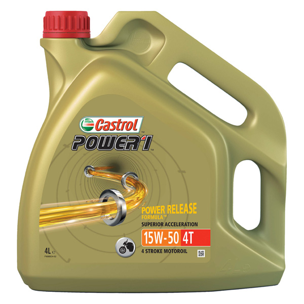Castrol Power1 5W-50 4T Motorcycle 4 Stroke - 4Ltr