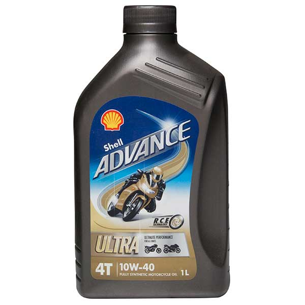 Shell Advance 4T Ultra 10W-40 (SN/MA2) - 1Ltr