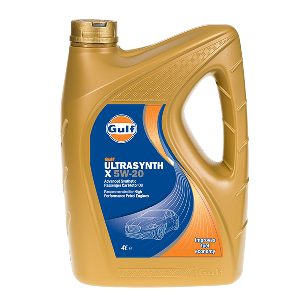 Gulf Ultrasynth X Engine Oil - 5W-20 - 4ltr