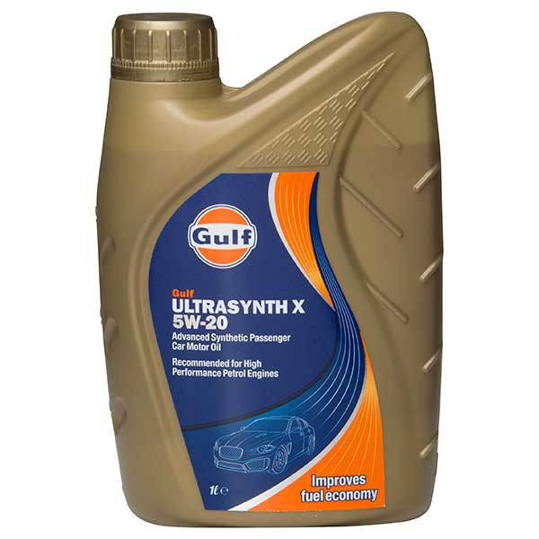 Gulf Ultrasynth X Engine Oil - 5W-20 - 1ltr