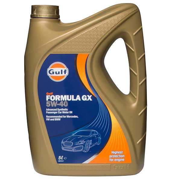 Gulf Formula GX Engine Oil - 5W-40 - 5ltr