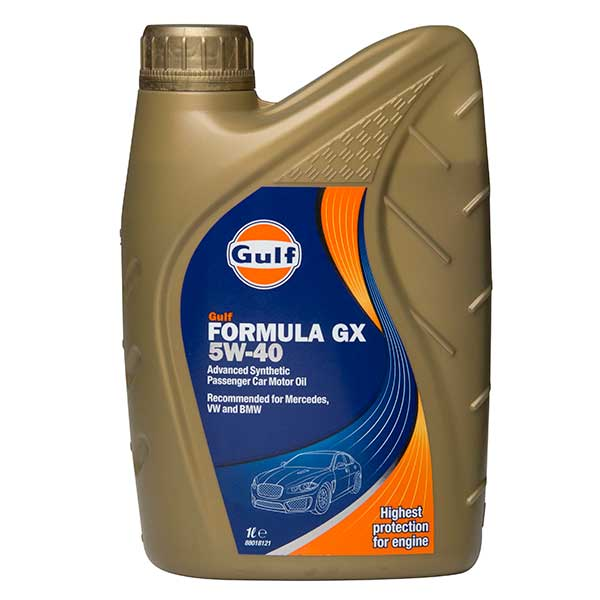Gulf Formula GX Engine Oil - 5W-40 - 1ltr