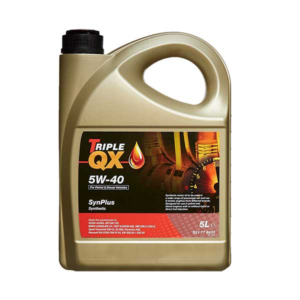 TRIPLE QX Fully Synthetic Engine Oil - 5W-40 - 5ltr
