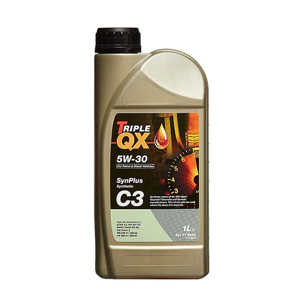 TRIPLE QX Fully Synthetic (Low Saps C3) Engine Oil - 5W-30 - 1ltr