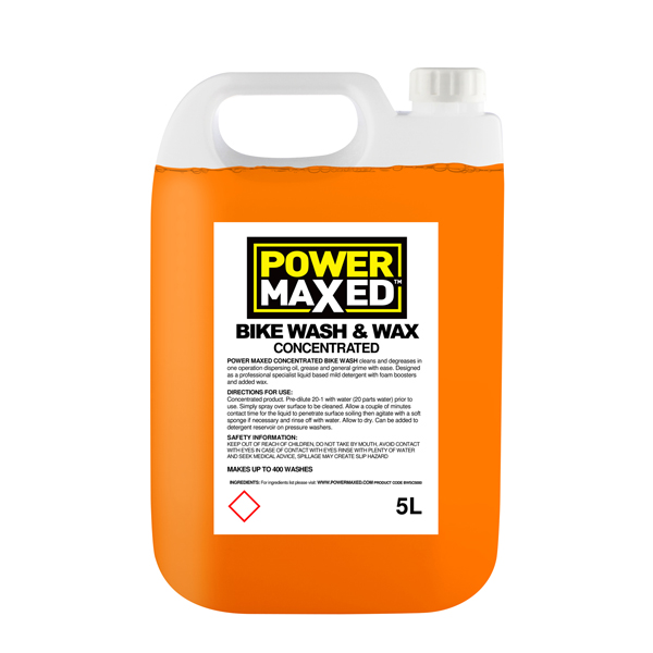 Power Maxed Bike Wash & Wax - 5Ltr