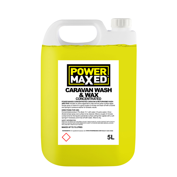 Power Maxed Caravan Wash - 5Ltr