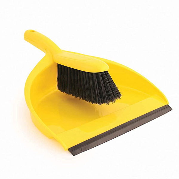 Euro Car Parts Dust Pan And Brush Yellow