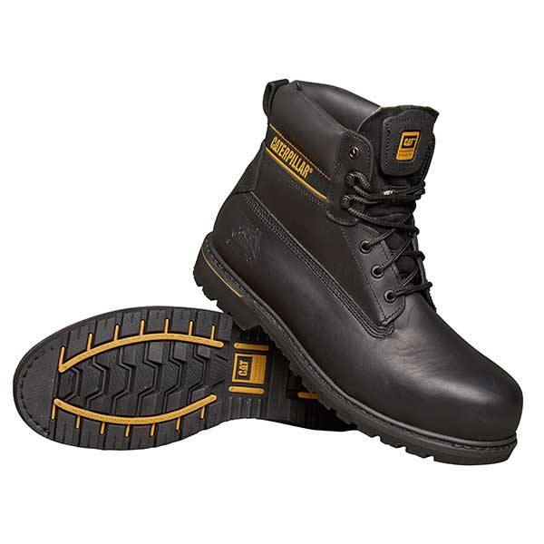 Holton (black) - Safety Work Boots  - Size 8