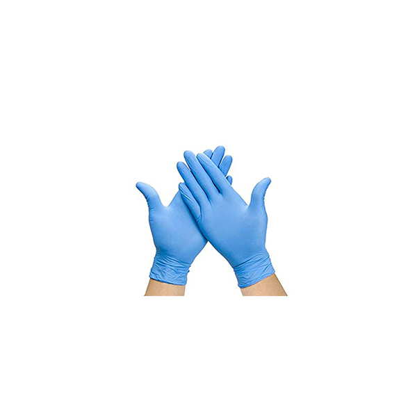 Box of 100 P/ Free Blue Nitrile Gloves Small