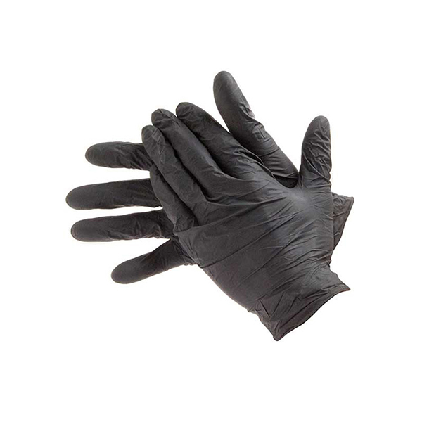SMALL Box of 100 P/ Free Black Nitrile Gloves