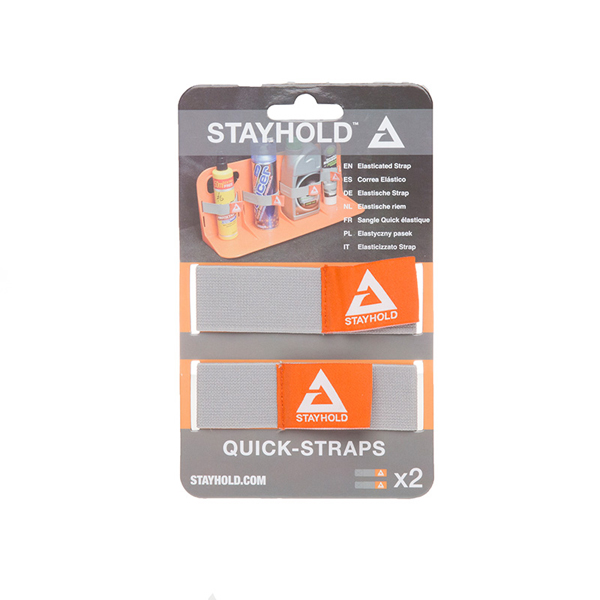 Stayhold Quick Straps x 2 Grey