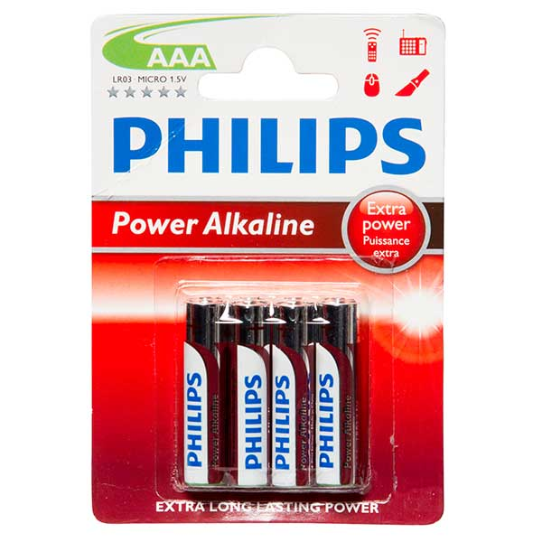 Philips Powerlife AAA Battery Qty 4