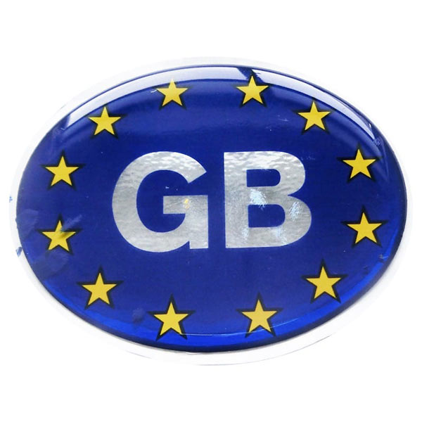 Oval GB Euro Polydem Sticker