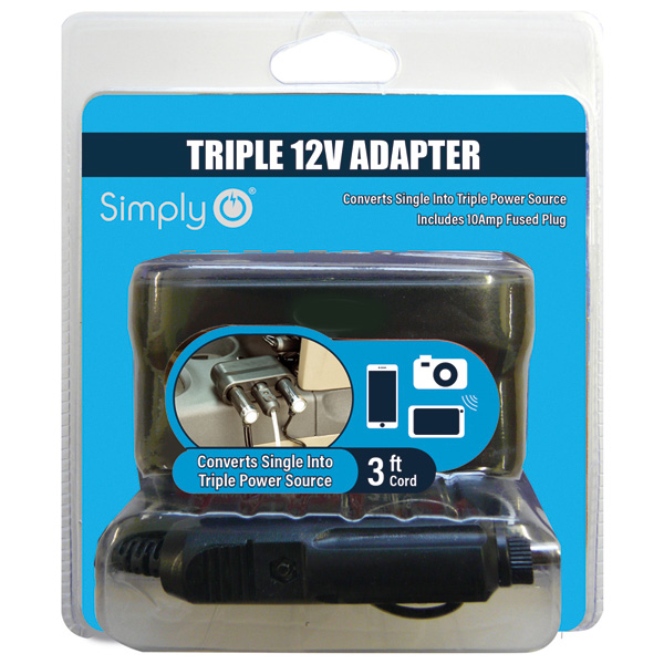 12V Triple Power Adaptor