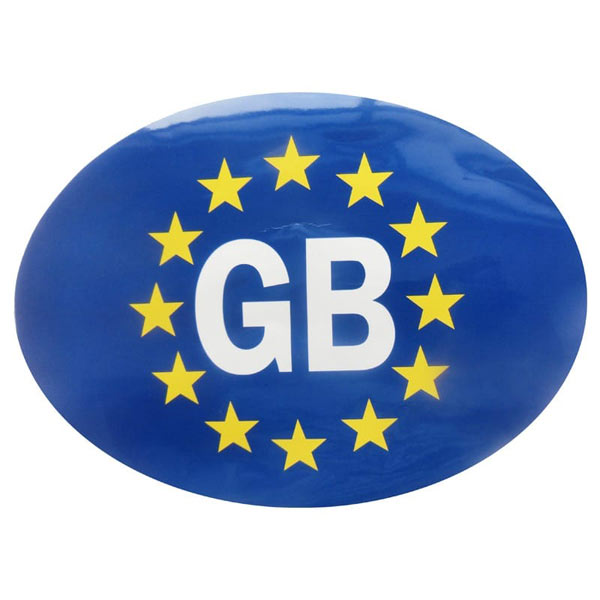 Oval GB Euro Adhesive Sticker