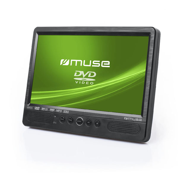 "Muse 10.1"" TFT LCD Twin DVD Car Video Player."