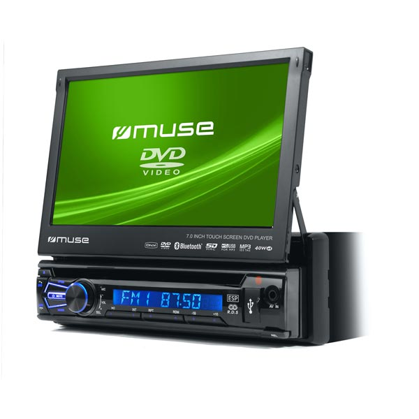 "Muse Bluetooth Car Radio / Dvd With 7"" Touch Screen"
