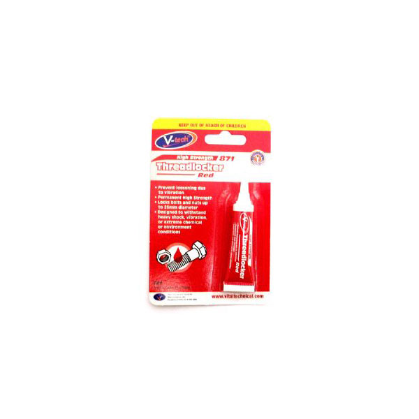 V-Tech High Strength Thread Lock Red6ml