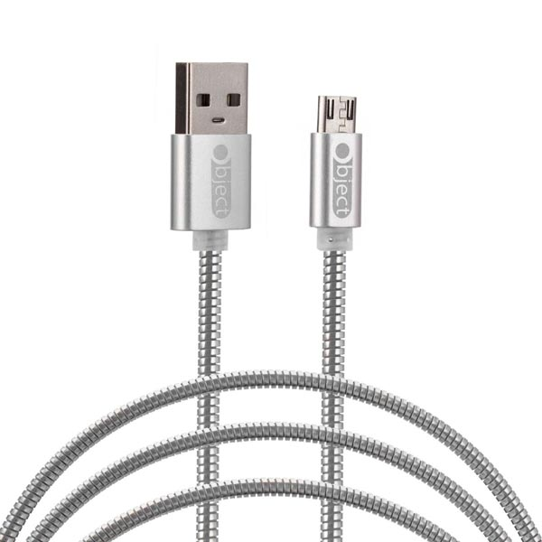 Object Metallic Micro (Android) Cable Silver