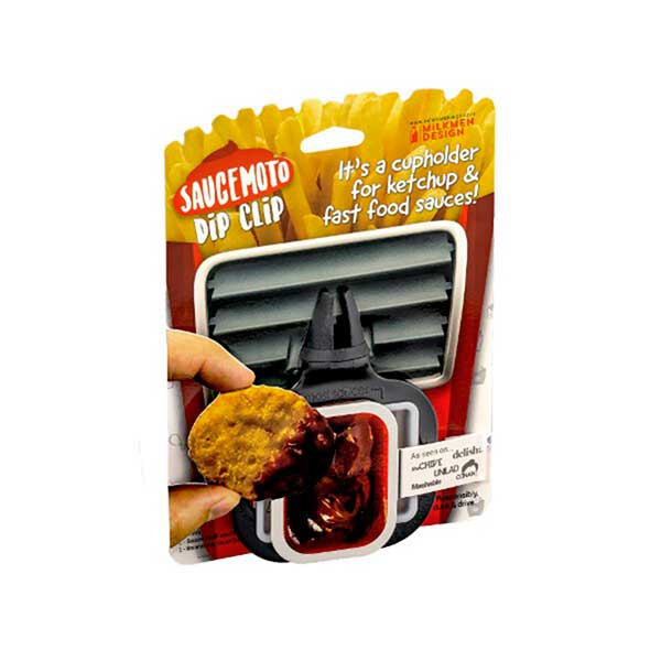 Dip Clip Black - A Cupholder for Fast Food Sauce