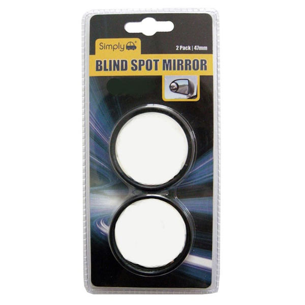 Black Circular Blind Spot Mirror 2 Pack
