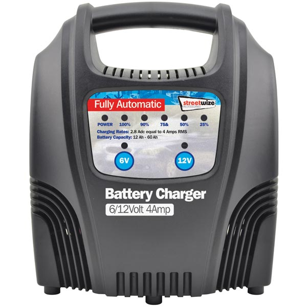 Streetwize 4 Amp Fully Automatic Battery Charger (6/12v )