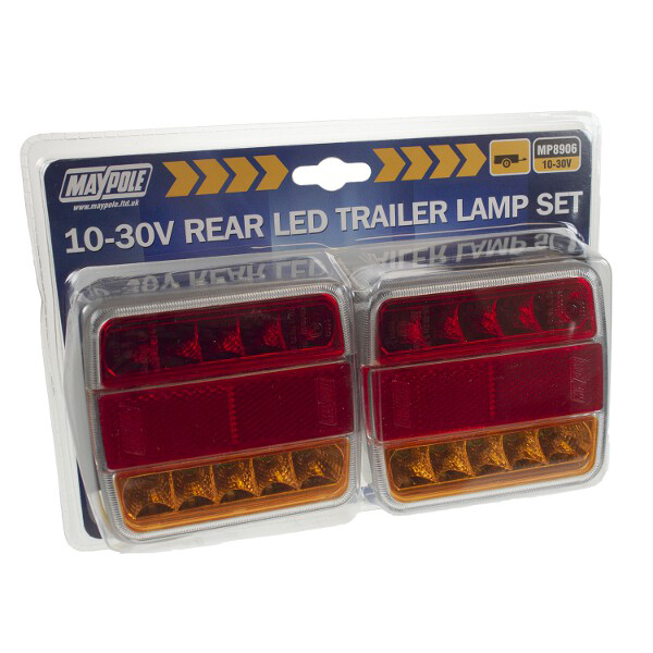 Pair Of 12/24V LED Rear Combination Lamps