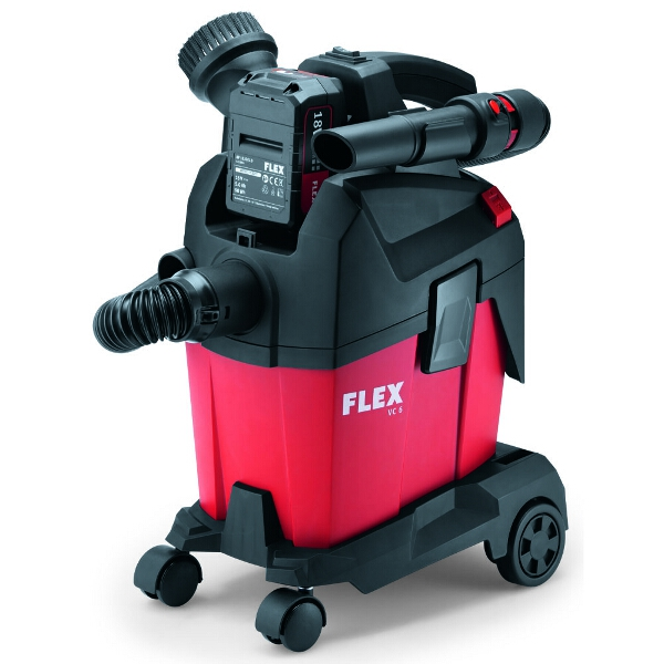Flex Compact battery  vacuum cleaner with manual filter cleaning, 6 l, class L  VC 6