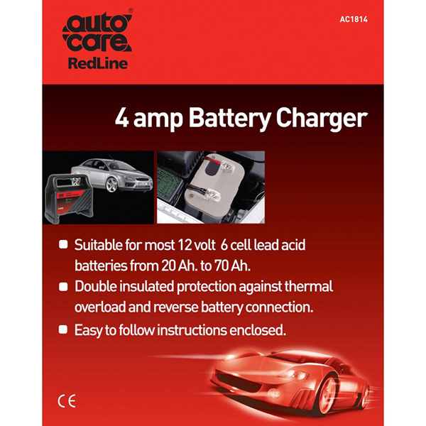 Autocare 4 Amp/12v Battery Charger