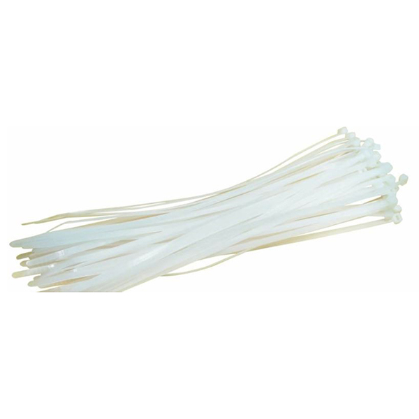 140 X 3.6MM CABLE TIE NATURAL PACKET OF 100