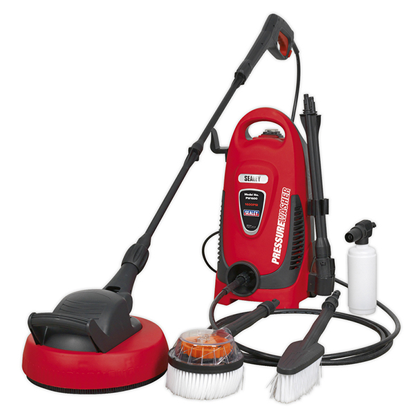 Sealey PW1600 Pressure Washer 110bar with TSS & Rotablast Nozzle 230V with Accessory Ki