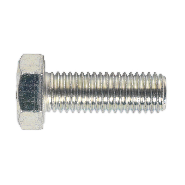 Sealey SS1440 HT Setscrew M14 x 40mm 8.8 Zinc DIN 933 Pack of 10
